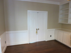 Fireplace Room with French Door Before and After - After 2