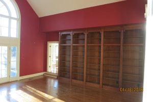 Interior Painting Library Before and After - Before