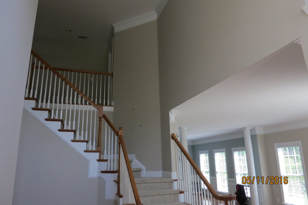 Interior Staircase Room and Pillars - After 3